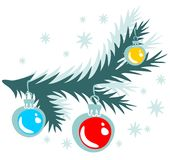 arbre de Noël de branchement Images libres de droits