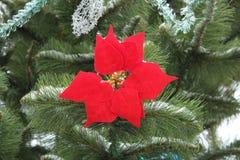 Arbre de Noël de brindille avec le jouet Image libre de droits