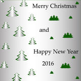 Arbre de Noël de carte postale Photographie stock libre de droits