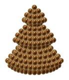 Arbre de Noël de chocolat Image libre de droits