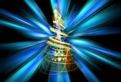 arbre de Noël de couleur Photo stock