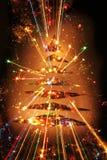 arbre de Noël de couleur Photo libre de droits