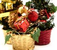 Arbre de Noël de décoration photos libres de droits