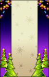 arbre de Noël de fond Photos libres de droits