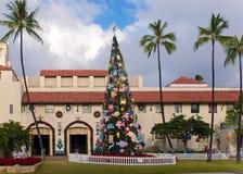 Arbre de Noël de Honolulu Photos libres de droits