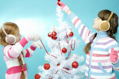Arbre de Noël de jouet Photos stock