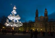 Arbre de Noël de Kaunas Photographie stock