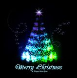 Arbre de Noël de lumière Photos libres de droits