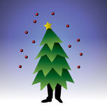 Arbre de Noël de marche illustration stock
