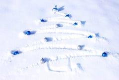 Arbre de Noël de neige Image libre de droits