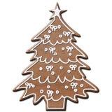 Arbre de Noël de pain d'épice Images libres de droits