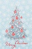 Arbre de Noël de papier Image libre de droits