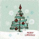 Arbre de Noël de papier créateur Illustration de vecteur illustration libre de droits