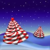 Arbre de Noël de sucrerie de menthe poivrée Image libre de droits