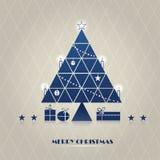 Arbre de Noël de triangle Photos libres de droits
