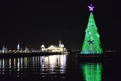 Arbre de Noël de vert de Geelong Image libre de droits