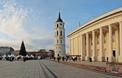 Arbre de Noël de ville, Vilnius, Lithuanie Images stock