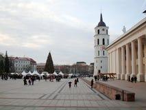 Arbre de Noël de ville, Vilnius, Lithuanie Image libre de droits