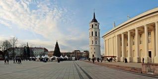 Arbre de Noël de ville, Vilnius, Lithuanie Photographie stock libre de droits