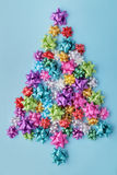 Arbre de Noël des arcs colorés Images libres de droits