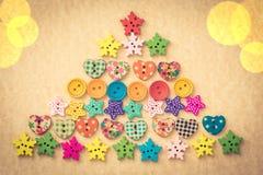 Arbre de Noël des boutons Images libres de droits