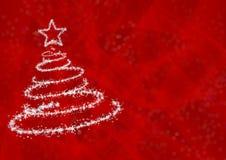 Arbre de Noël des flocons de neige Photographie stock libre de droits