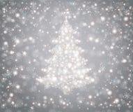 Arbre de Noël des flocons de neige Images stock