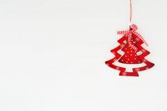 Arbre de Noël en bois rouge images libres de droits