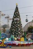 Arbre de Noël en parc Hong Kong d'océan photos libres de droits