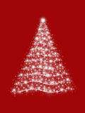 Arbre de Noël en rouge