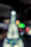 Arbre de Noël et éclairage de fête de bokeh Image libre de droits