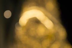 Arbre de Noël et éclairage de fête de bokeh Images stock