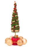 Arbre de Noël et boules en verre Image stock