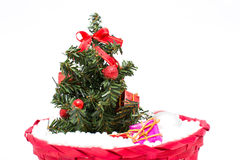 Arbre de Noël et décorations de Noël Photo stock