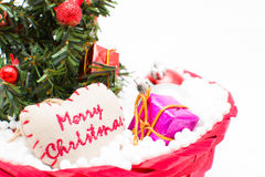 Arbre de Noël et décorations de Noël Image stock