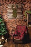 Arbre de Noël et décorations de Noël Image libre de droits