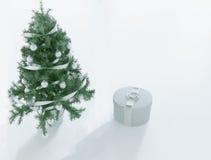 Arbre de Noël et un cadeau, 3d Photographie stock