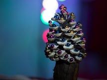 Arbre de Noël fabriqué à la main Photographie stock