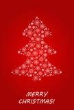 Arbre de Noël fait à partir des flocons de neige et de la neige Dirigez l'illustration pour la carte postale, la bannière, l'affi illustration de vecteur