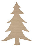Arbre de Noël fait de carton ondulé Photographie stock