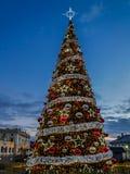 Arbre de Noël géant Photographie stock