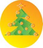 Arbre de Noël géométrique Image stock