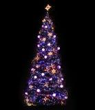 Arbre de Noël illuminé Images libres de droits