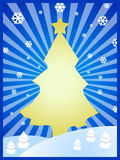 Arbre de Noël jaune Photos stock