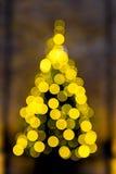 Arbre de Noël l'effet de bokeh Photographie stock