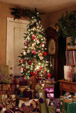 Arbre de Noël la nuit Photo libre de droits
