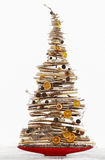 Arbre de Noël moderne d'isolement Image stock