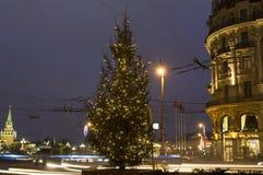 Arbre de Noël, Moscou Photographie stock