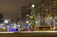 Arbre de Noël, Moscou Photographie stock libre de droits