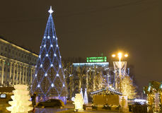 Arbre de Noël, Moscou Image stock